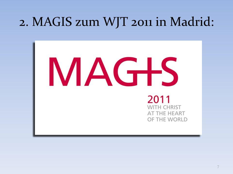 KOSTEN 38 PROGRAMM (MAGIS & WELTJUGENDTAG) + UNTERKUNFT + Pilgerrucksack + VERPFLEGUNG vom 5.8.2011 (Abendessen) bis zum 21.8.2011 (Frühstück): 400,- + BUSTRANSPORT von DEUTSCHLAND (Freiburg u.a.) nach Loyola und von MADRID zurück nach Deutschland: 150,- => 550,- (in manchen Diözesen wie Freiburg könnt Ihr selbst einen Zuschuss beantragen und damit bis zu 50 Euro sparen)
