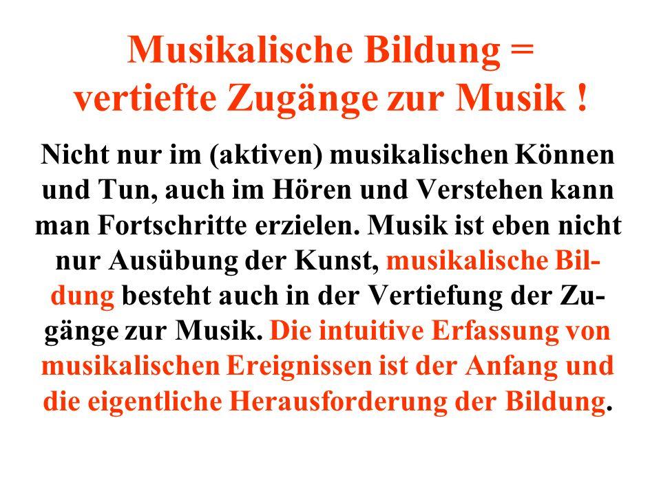 Musikalische Umweltverschmutzung Kinder sind musikalischer Berieselung und (akustischen)Klangtapeten wehrlos ausgeliefert !