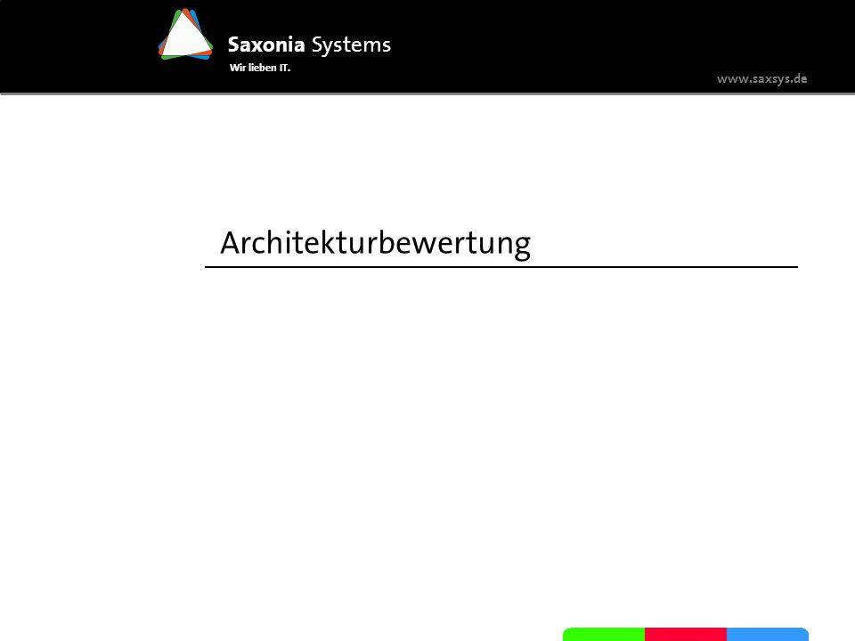 www.saxsys.de Saxonia Systems Wir lieben IT. Architekturbewertung