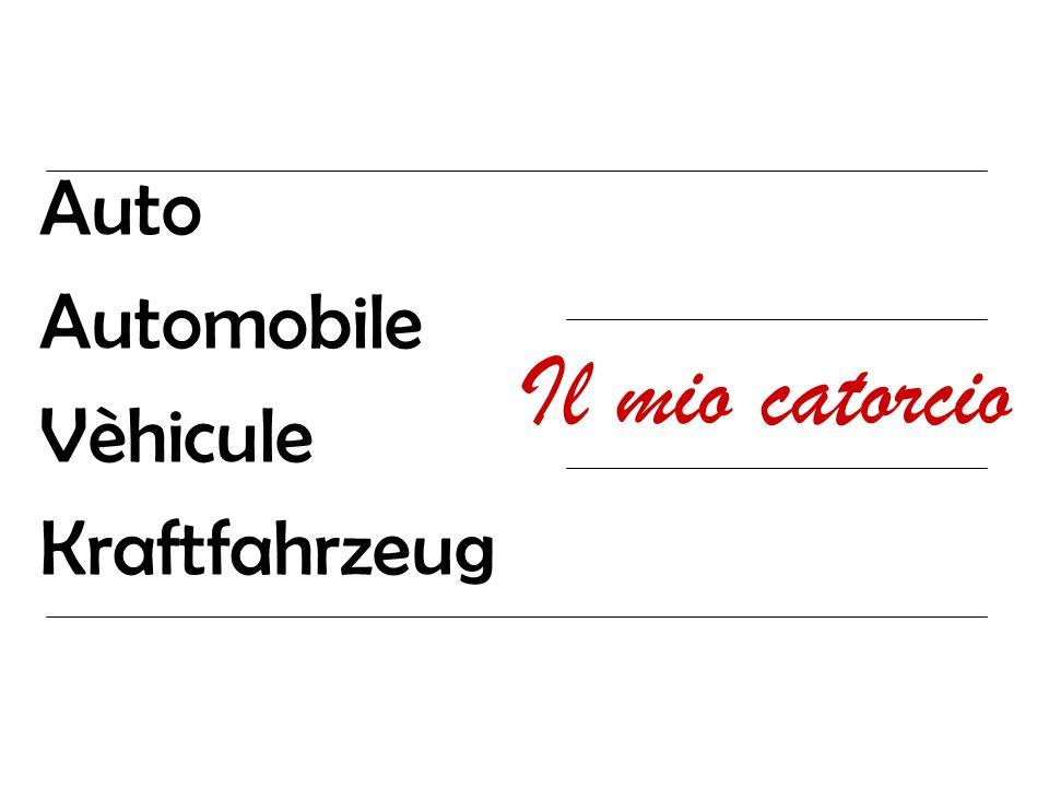 Auto Automobile Vèhicule Kraftfahrzeug Il mio catorcio