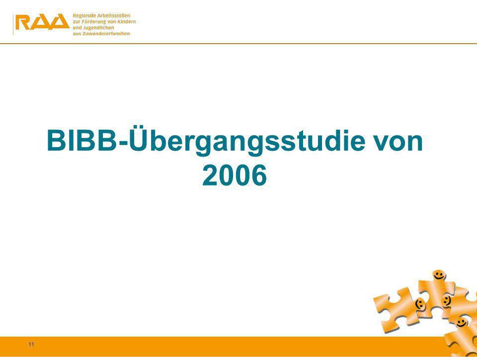 11 BIBB-Übergangsstudie von 2006