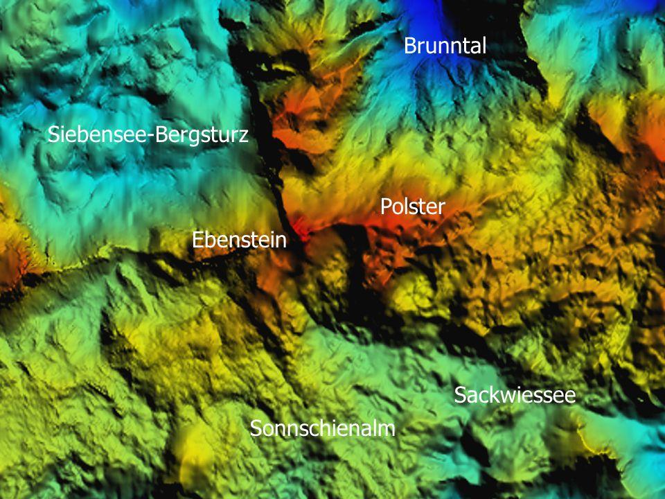 Siebensee-Bergsturz Ebenstein Sackwiessee Sonnschienalm Polster Brunntal