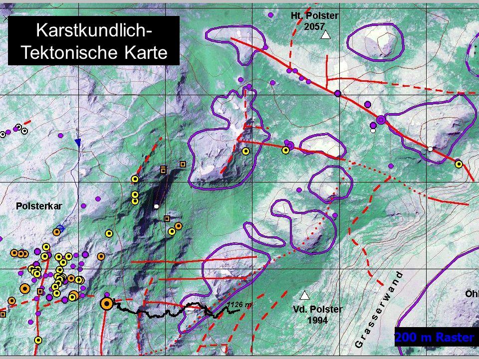 200 m Raster Karstkundlich- Tektonische Karte