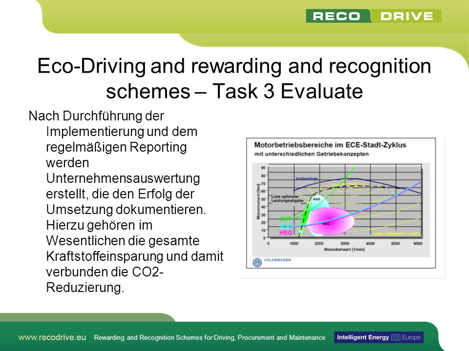 Rewarding and Recognition Schemes for Driving, Procurement and Maintenance Eco-Driving and rewarding and recognition schemes – Task 3 Evaluate Nach Du