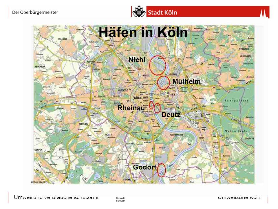 Umweltzone KölnUmwelt und Verbraucherschutzamt Häfen in Köln Niehl Mülheim Rheinau Deutz Godorf