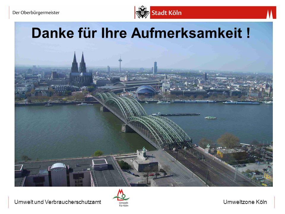 Umweltzone KölnUmwelt und Verbraucherschutzamt Danke für Ihre Aufmerksamkeit !