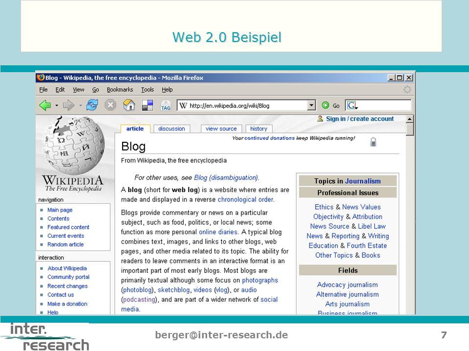 8berger@inter-research.de Von der Homepage zur digitalen Identität…