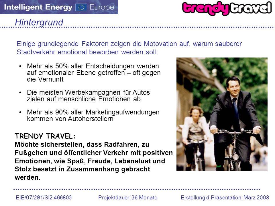 EIE/07/291/SI2.466803 Projektdauer: 36 Monate Erstellung d.Präsentation: März 2008 Hintergrund Einige grundlegende Faktoren zeigen die Motovation auf,