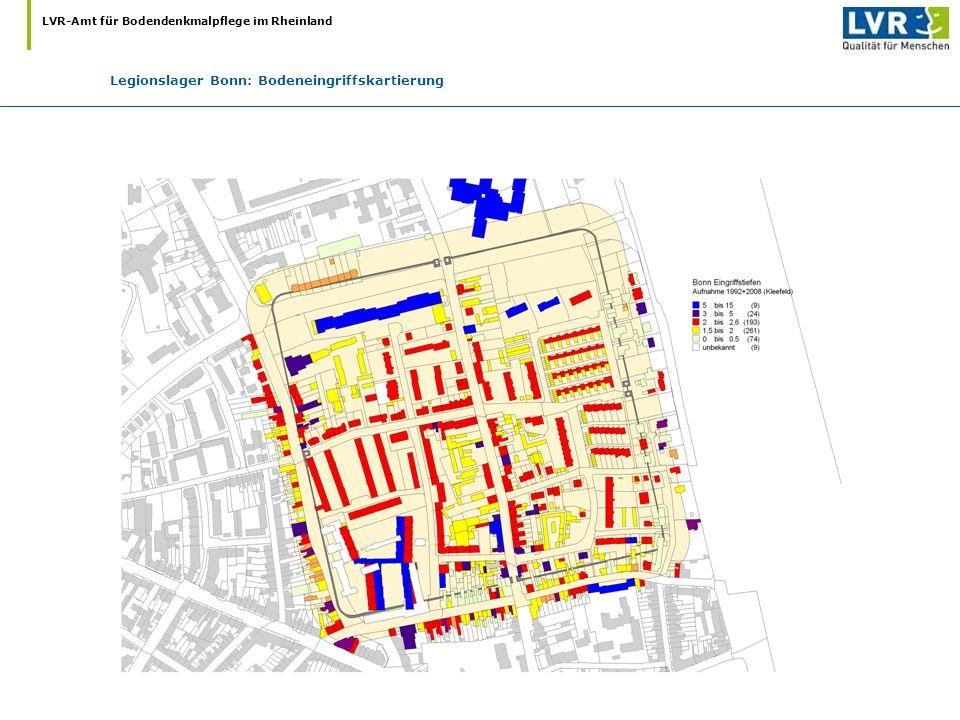 LVR-Amt für Bodendenkmalpflege im Rheinland Legionslager Bonn: Bodeneingriffskartierung