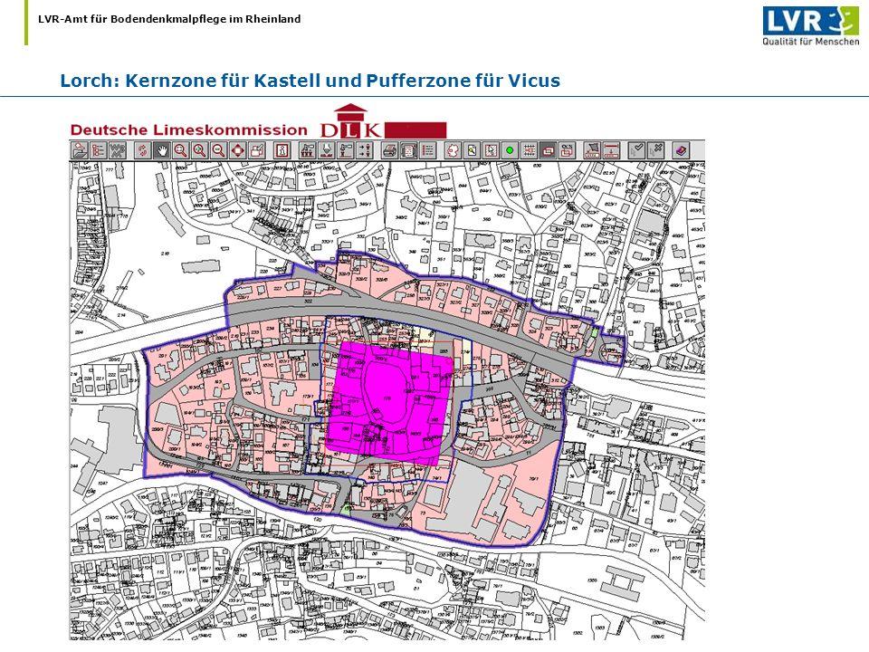 LVR-Amt für Bodendenkmalpflege im Rheinland Lorch: Kernzone für Kastell und Pufferzone für Vicus
