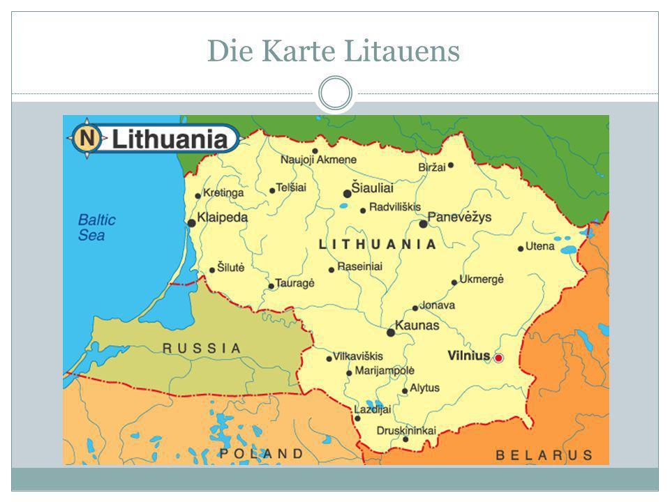 Die Flagge Das Wappen Nationalsymbole des Litauens