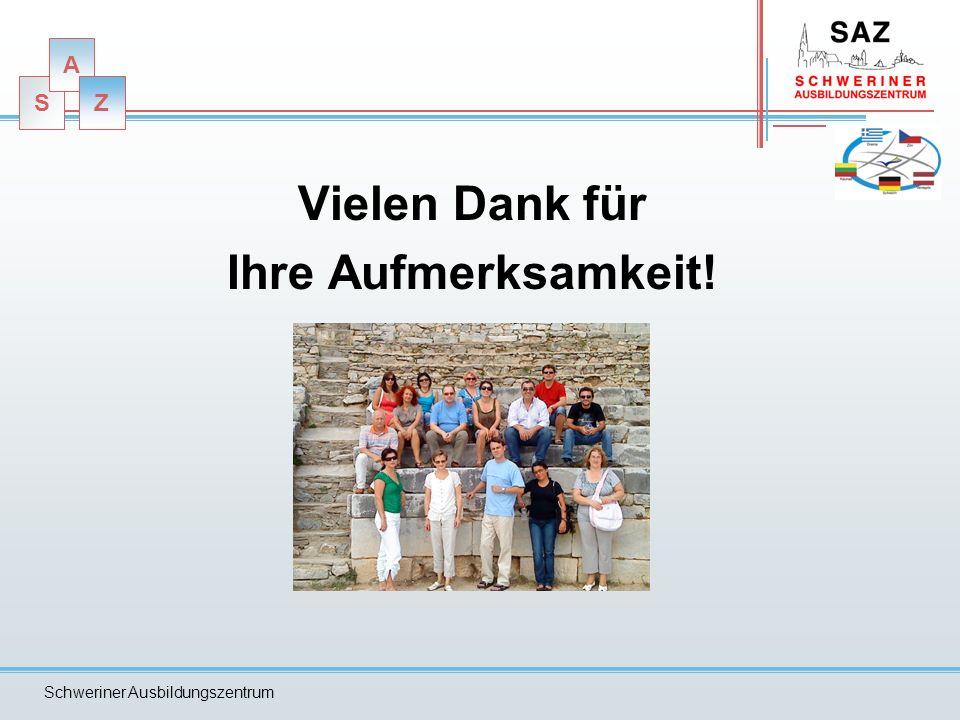 S A Z Schweriner Ausbildungszentrum Ablaufplan 23.03.