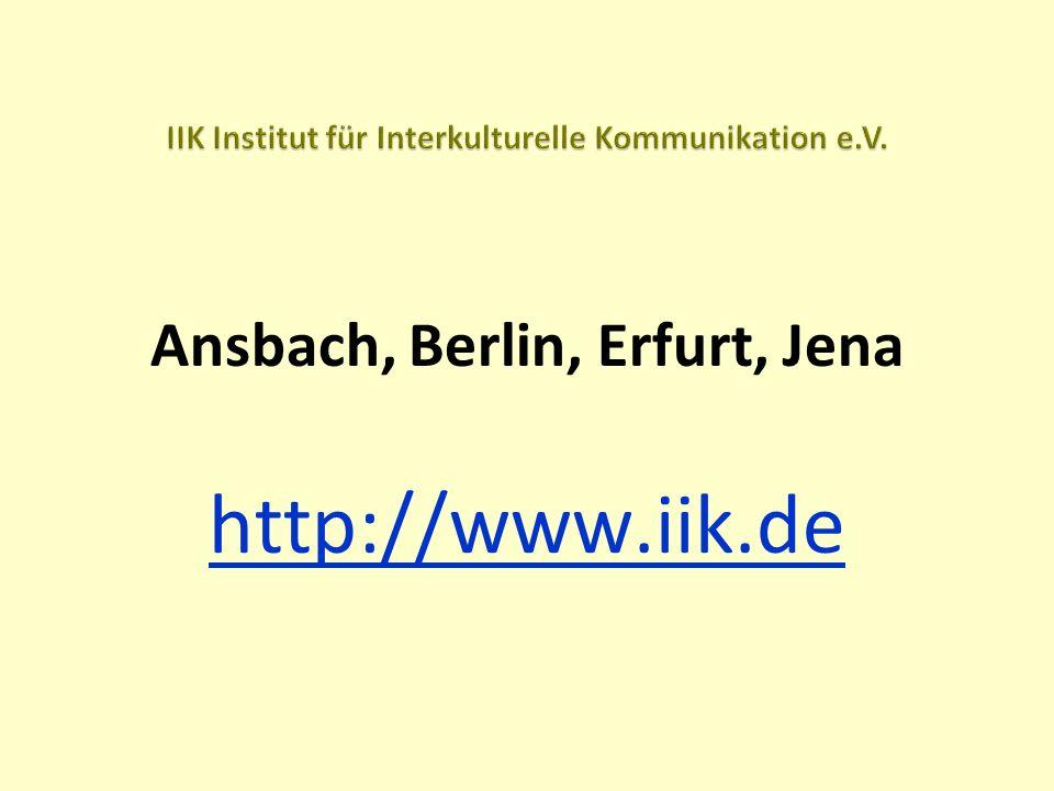 Ansbach, Berlin, Erfurt, Jena http://www.iik.de