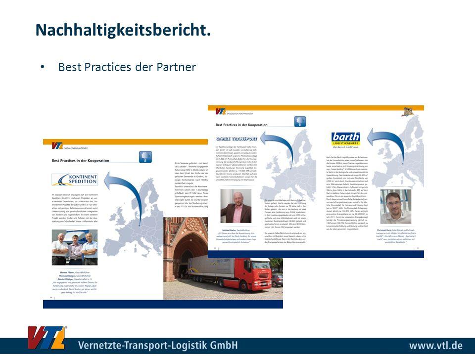 Best Practices der Partner Nachhaltigkeitsbericht.