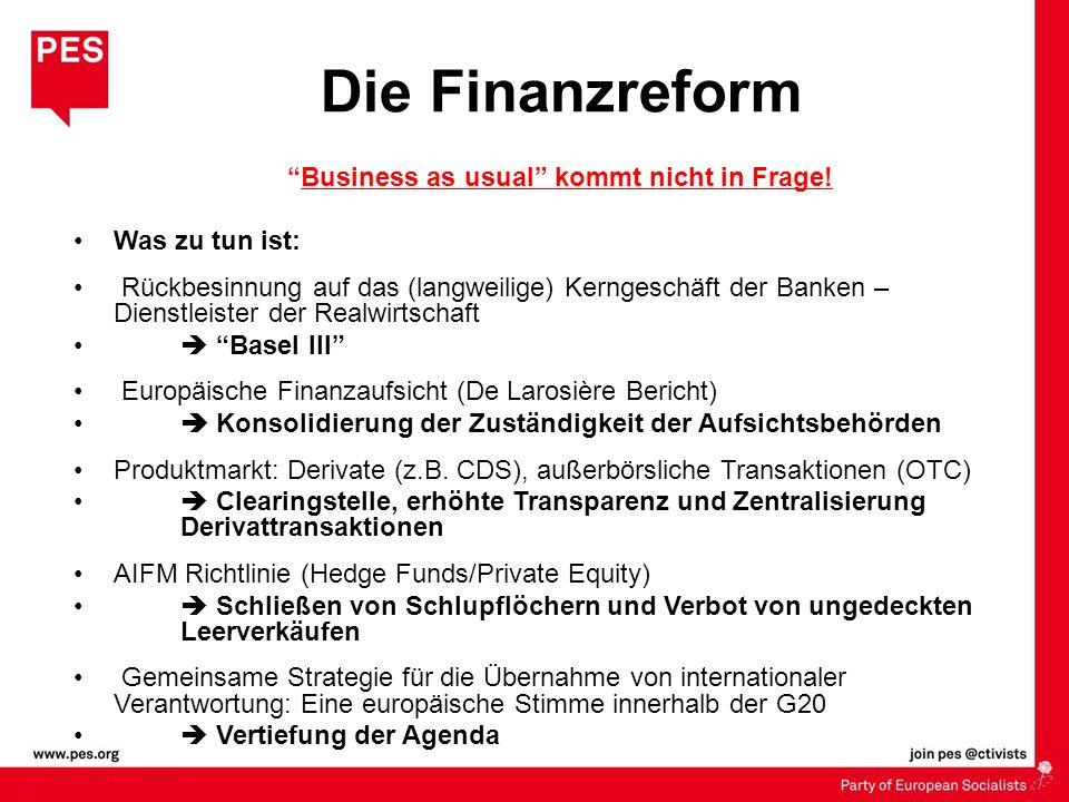 Business as usual kommt nicht in Frage! Was zu tun ist: Rückbesinnung auf das (langweilige) Kerngeschäft der Banken – Dienstleister der Realwirtschaft