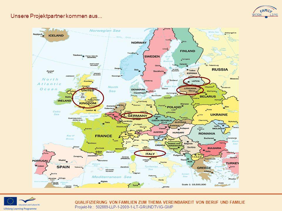 QUALIFIZIERUNG VON FAMILIEN ZUM THEMA VEREINBARKEIT VON BERUF UND FAMILIE Projekt-Nr.: 502889-LLP-1-2009-1-LT-GRUNDTVIG-GMP Modul 3 Trotz der EU-Richtlinien und nationalen Regelungen mangelt es an staatlichen und privaten Kinderbetreuungsstellen.