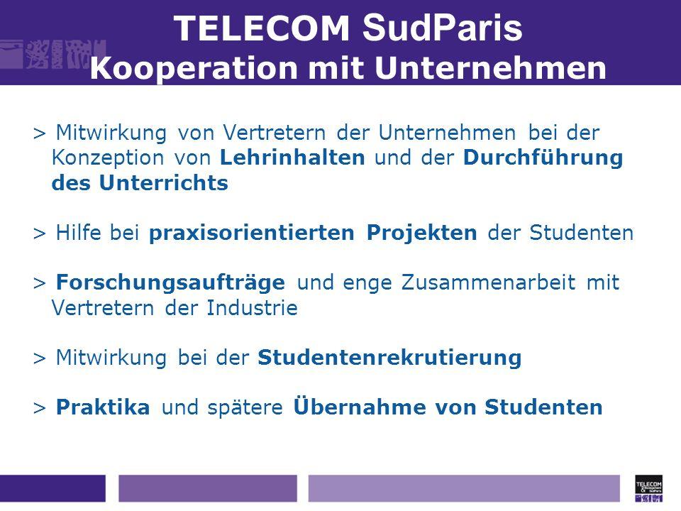 TELECOM SudParis Kooperation mit Unternehmen > Mitwirkung von Vertretern der Unternehmen bei der Konzeption von Lehrinhalten und der Durchführung des