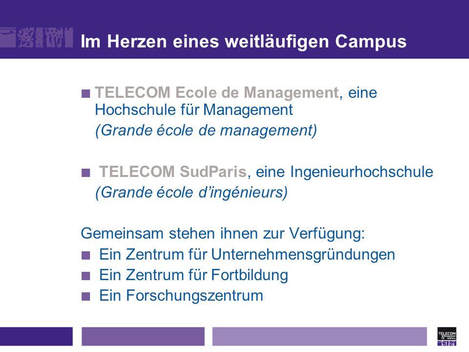 Im Herzen eines weitläufigen Campus TELECOM Ecole de Management, eine Hochschule für Management (Grande école de management) TELECOM SudParis, eine In