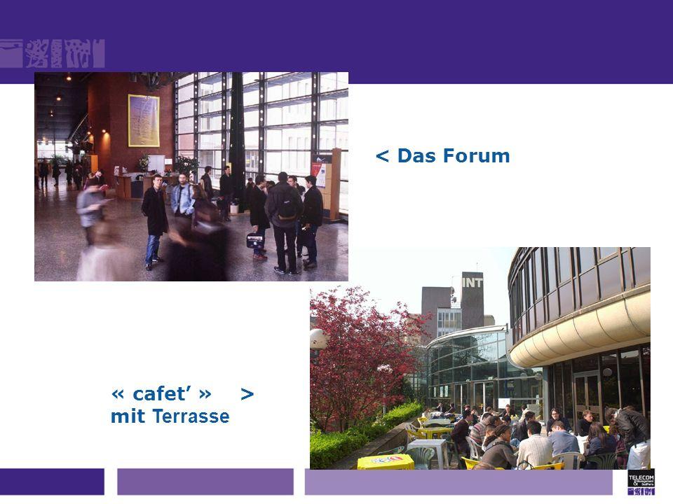 « cafet » > mit Terrasse < Das Forum