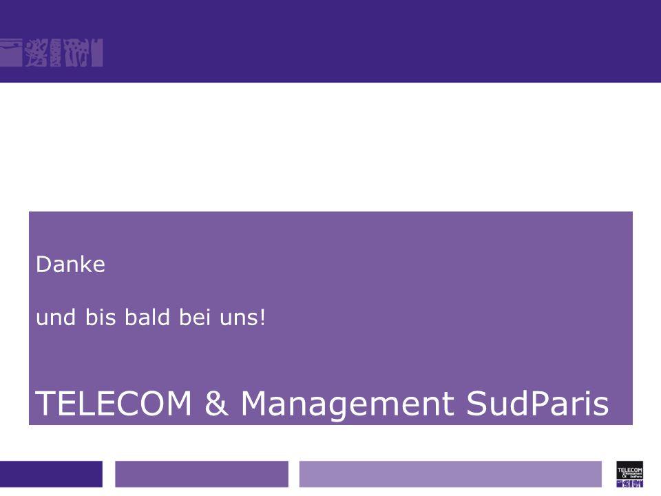 Danke und bis bald bei uns! TELECOM & Management SudParis
