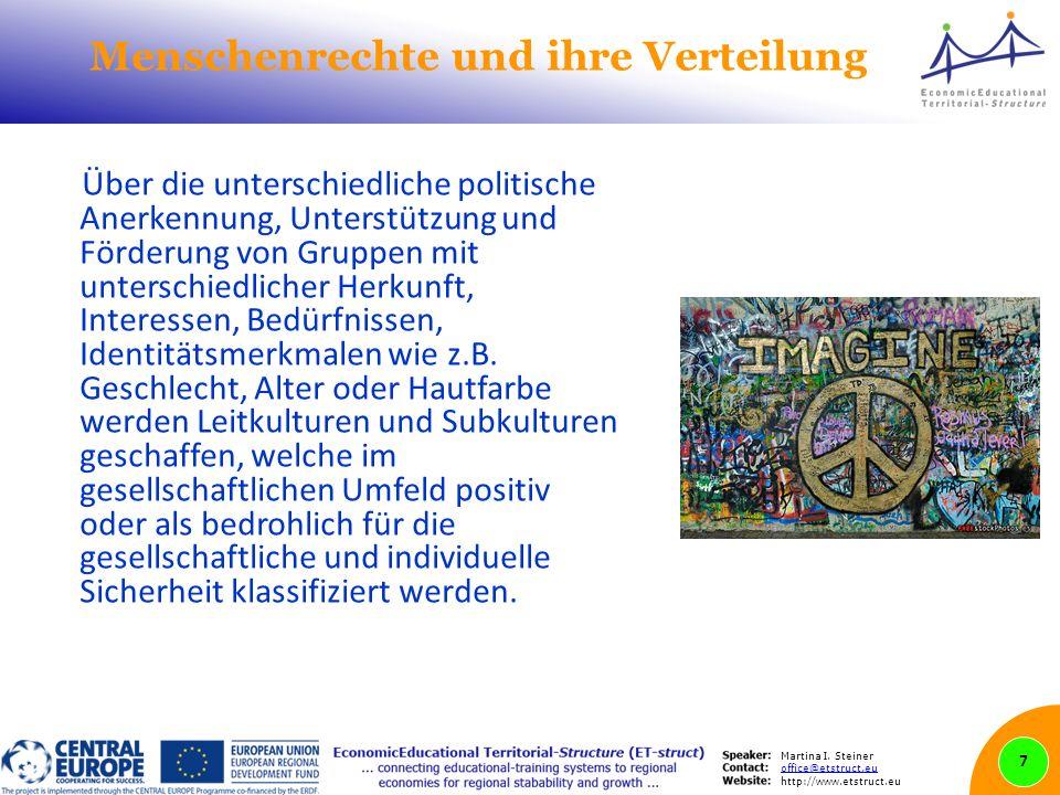 Martina I. Steiner office@etstruct.eu http://www.etstruct.eu Menschenrechte und ihre Verteilung Über die unterschiedliche politische Anerkennung, Unte