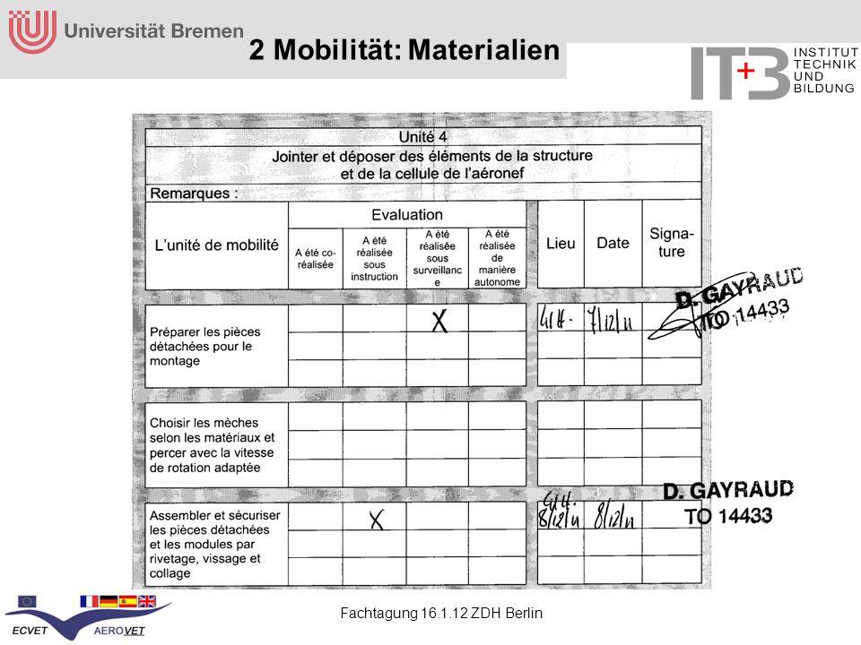 Fachtagung 16.1.12 ZDH Berlin 2 Mobilität: Materialien