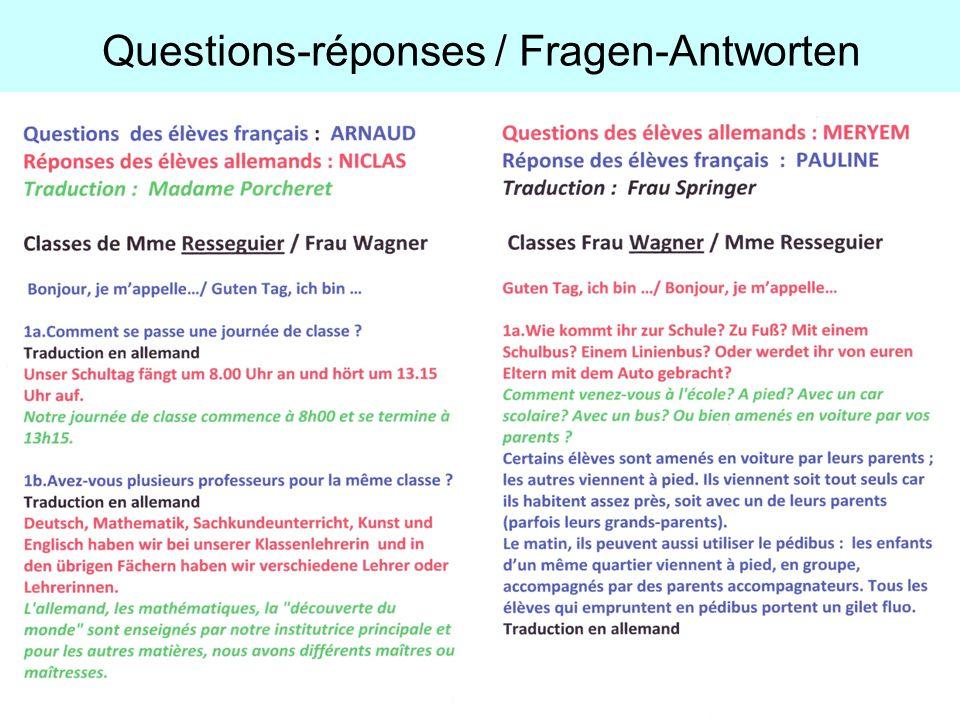 Questions-réponses / Fragen-Antworten