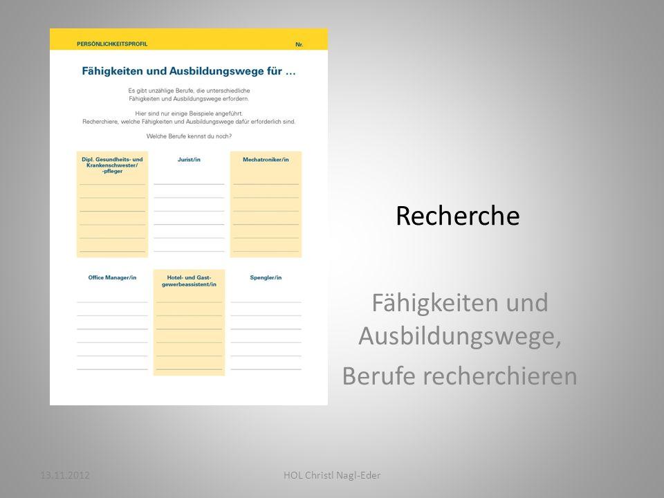 Kompetenzen Stärken, Interessen, Begabungen, Orientierungshilfen 13.11.2012HOL Christl Nagl-Eder