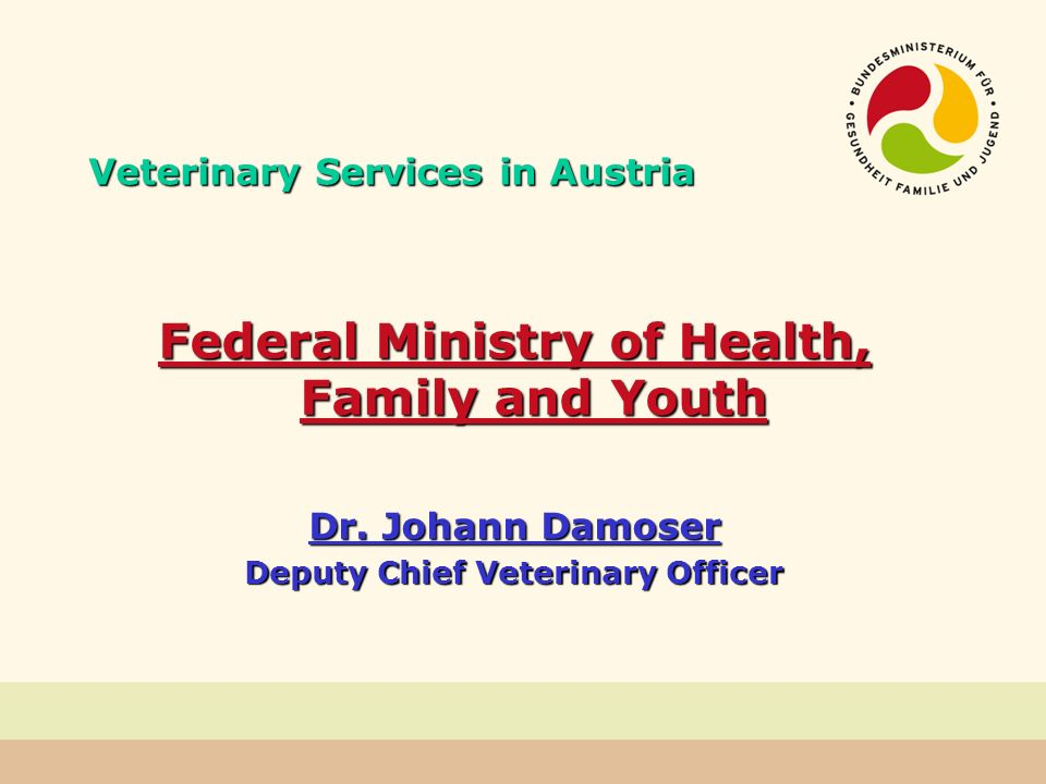 Private Veterinarians Animal Disease Act (ADA) possibility to make use of freelance veterinarians, preferably those resident in the administrative district in case of outbreak of a disease (§ 2a (1) ADA) as veterinarians with special responsibility for the disease preventing the spread or introduction of animal diseases - carrying out officially required protective vaccination (§ 2a (3) ADA) e.g.: Bluetongue