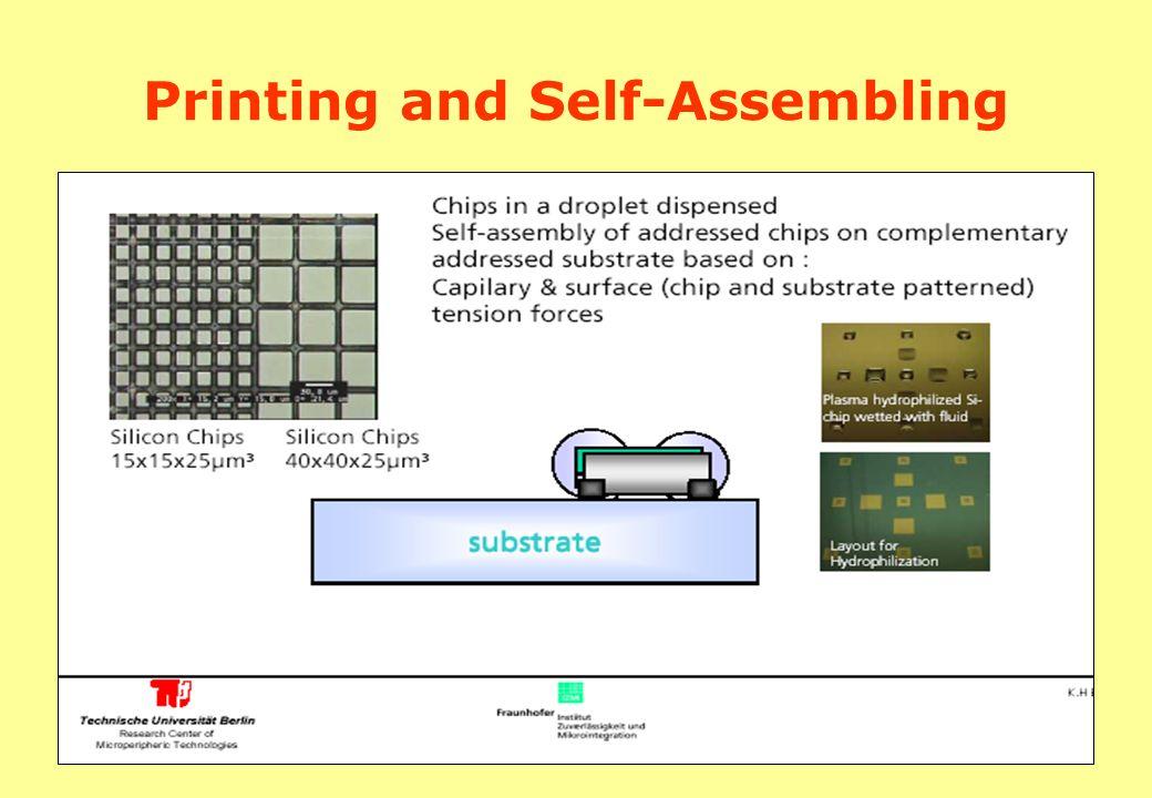 Printing and Self-Assembling