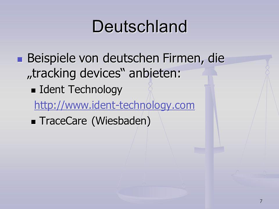 7 Deutschland Beispiele von deutschen Firmen, die tracking devices anbieten: Beispiele von deutschen Firmen, die tracking devices anbieten: Ident Tech
