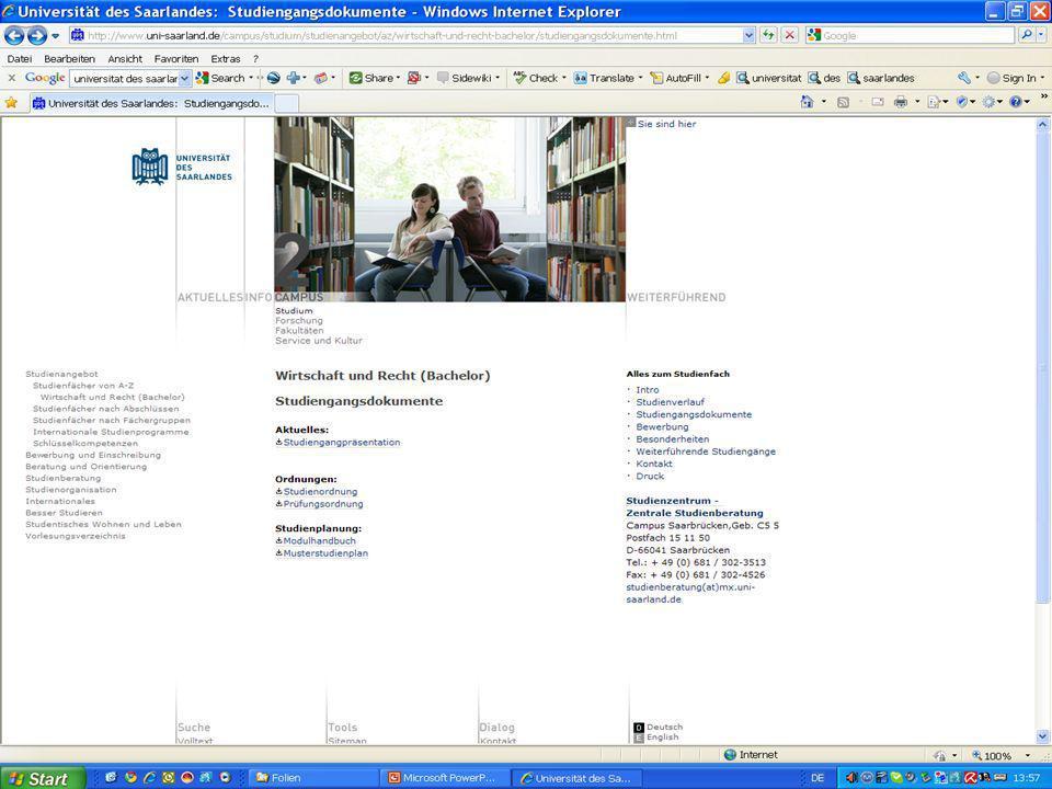 Universität des Saarlandes Oliver Suhr www.artikel1.de