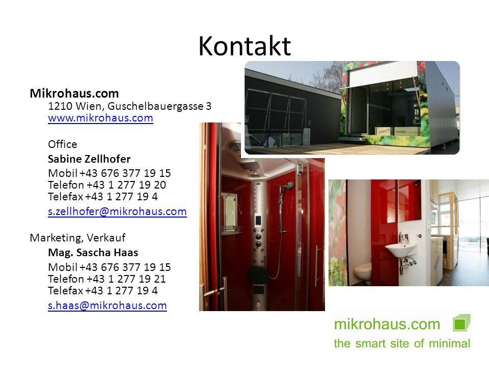 Kontakt Mikrohaus.com 1210 Wien, Guschelbauergasse 3 www.mikrohaus.com www.mikrohaus.com Office Sabine Zellhofer Mobil +43 676 377 19 15 Telefon +43 1