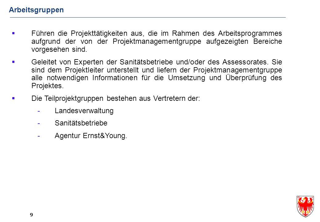 10 Projektmanagementgruppe Steuerungsgruppe Mehrere fachliche Teilprojekte (z.