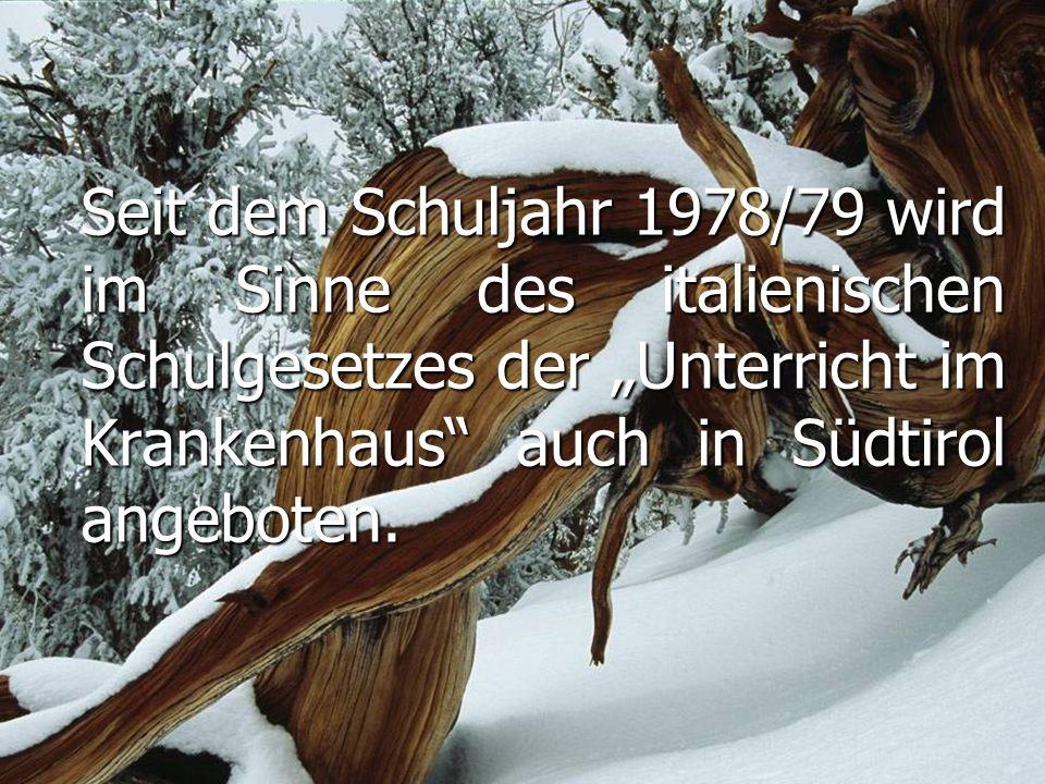 Die Krankenhausschule Bruneck ist keine eigenständige Schule, sondern der Grundschule Bruneck zugehörig.
