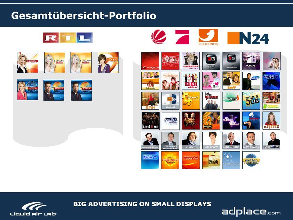 BIG ADVERTISING ON SMALL DISPLAYS Gesamtübersicht-Portfolio