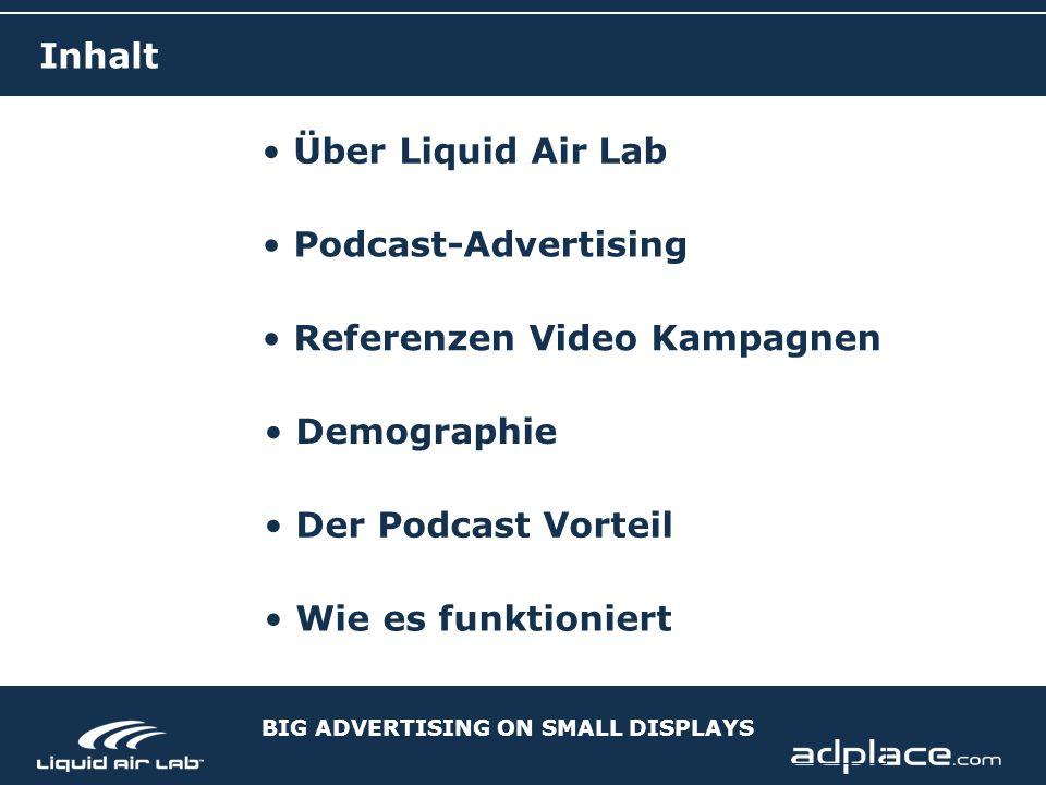 Über Liquid Air Lab Podcast-Advertising Demographie Der Podcast Vorteil Wie es funktioniert Referenzen Video Kampagnen Inhalt