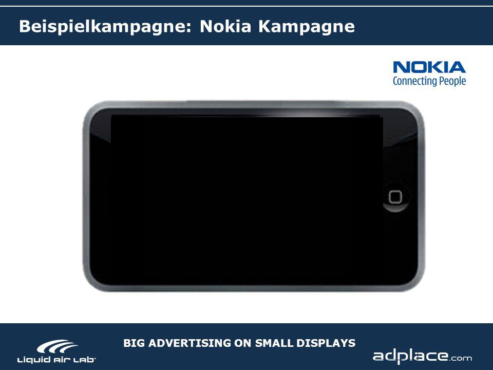 BIG ADVERTISING ON SMALL DISPLAYS Beispielkampagne: Nokia Kampagne
