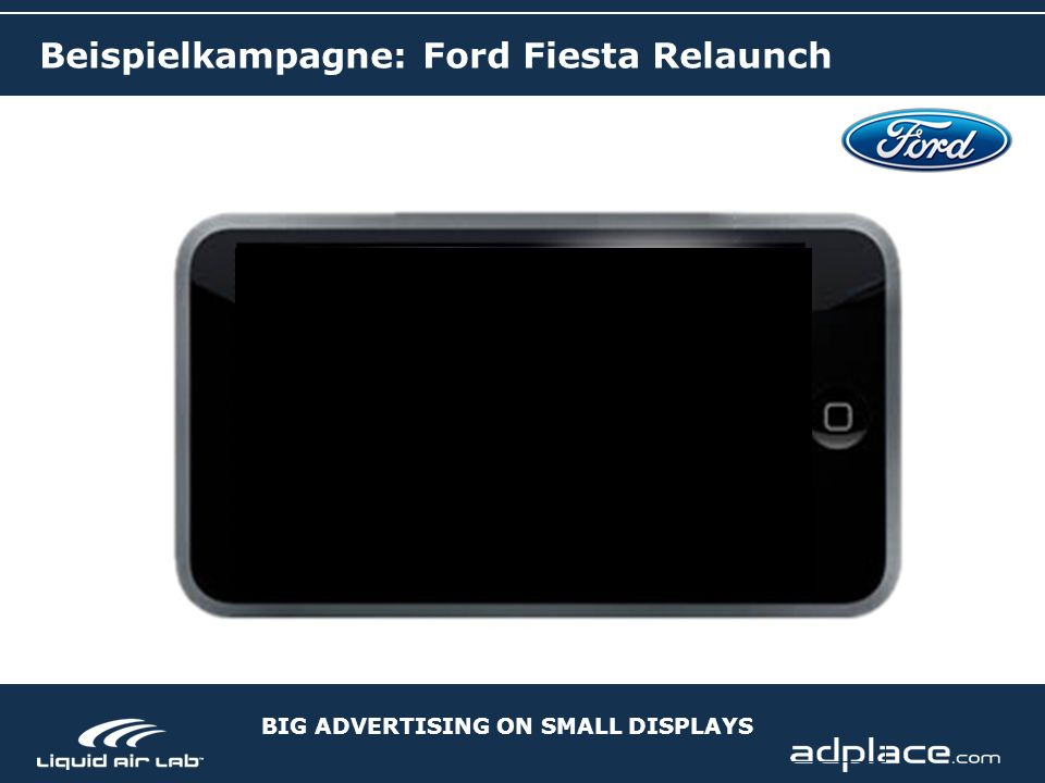 BIG ADVERTISING ON SMALL DISPLAYS Beispielkampagne: Ford Fiesta Relaunch