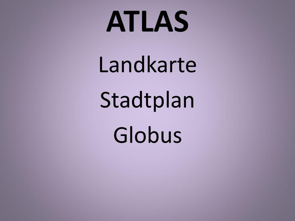 ATLAS Landkarte Stadtplan Globus