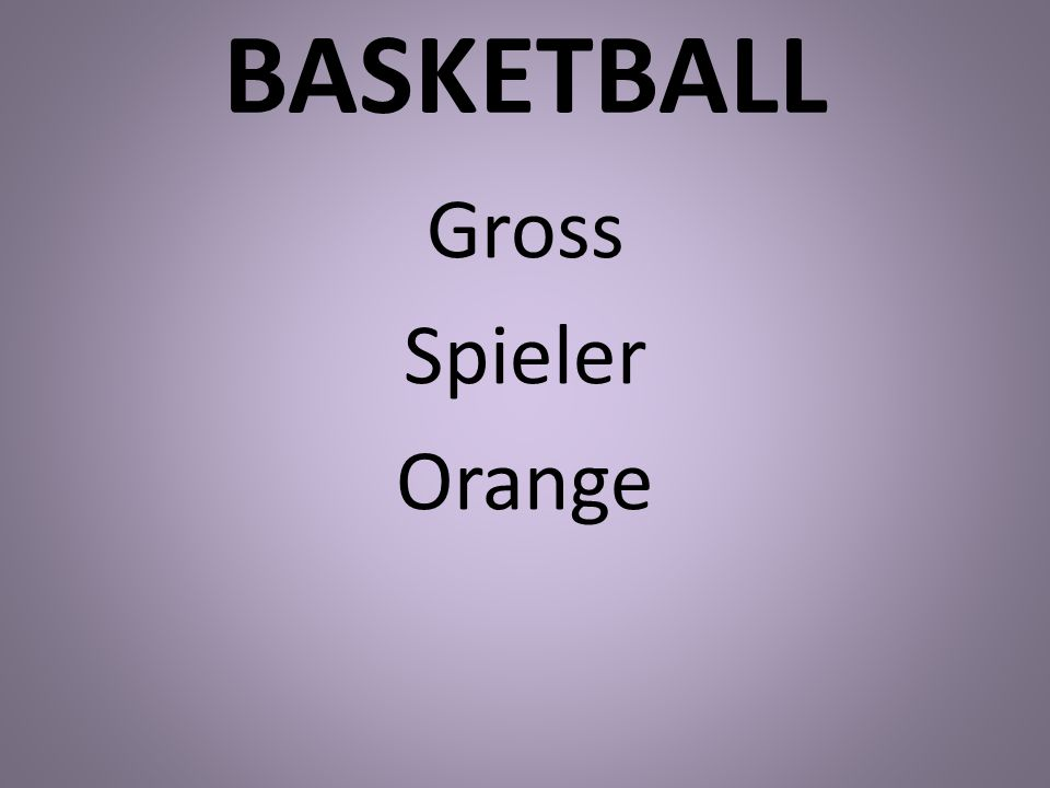 BASKETBALL Gross Spieler Orange