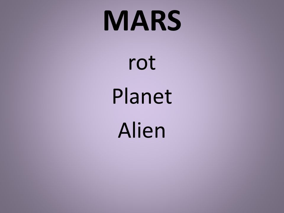 MARS rot Planet Alien