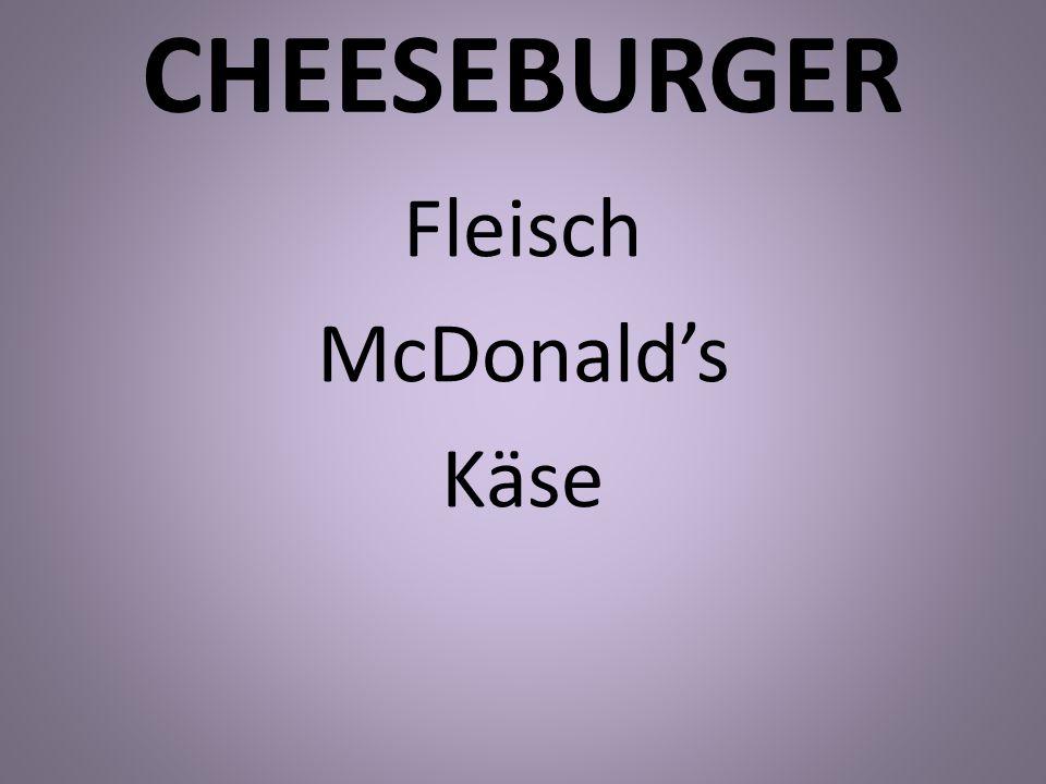 CHEESEBURGER Fleisch McDonalds Käse