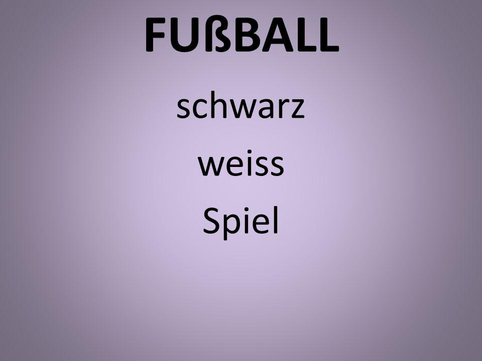 FUßBALL schwarz weiss Spiel