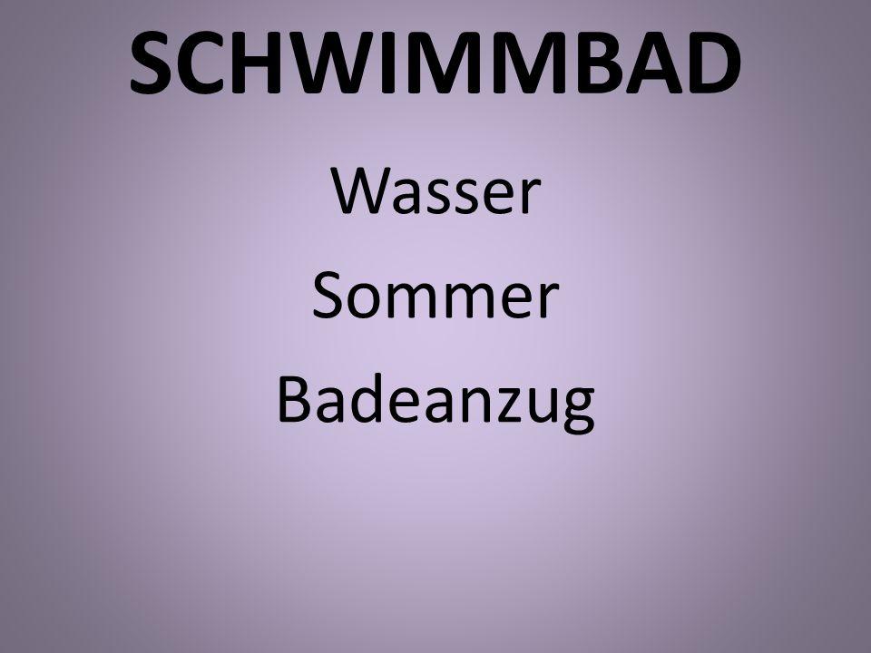SCHWIMMBAD Wasser Sommer Badeanzug
