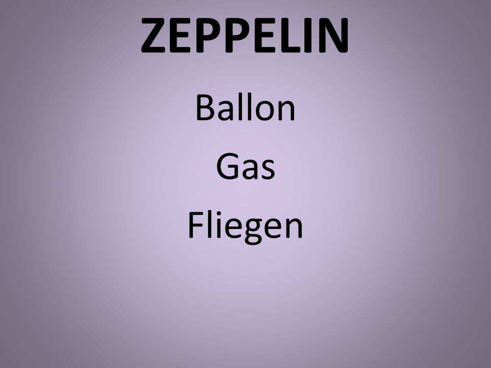 ZEPPELIN Ballon Gas Fliegen