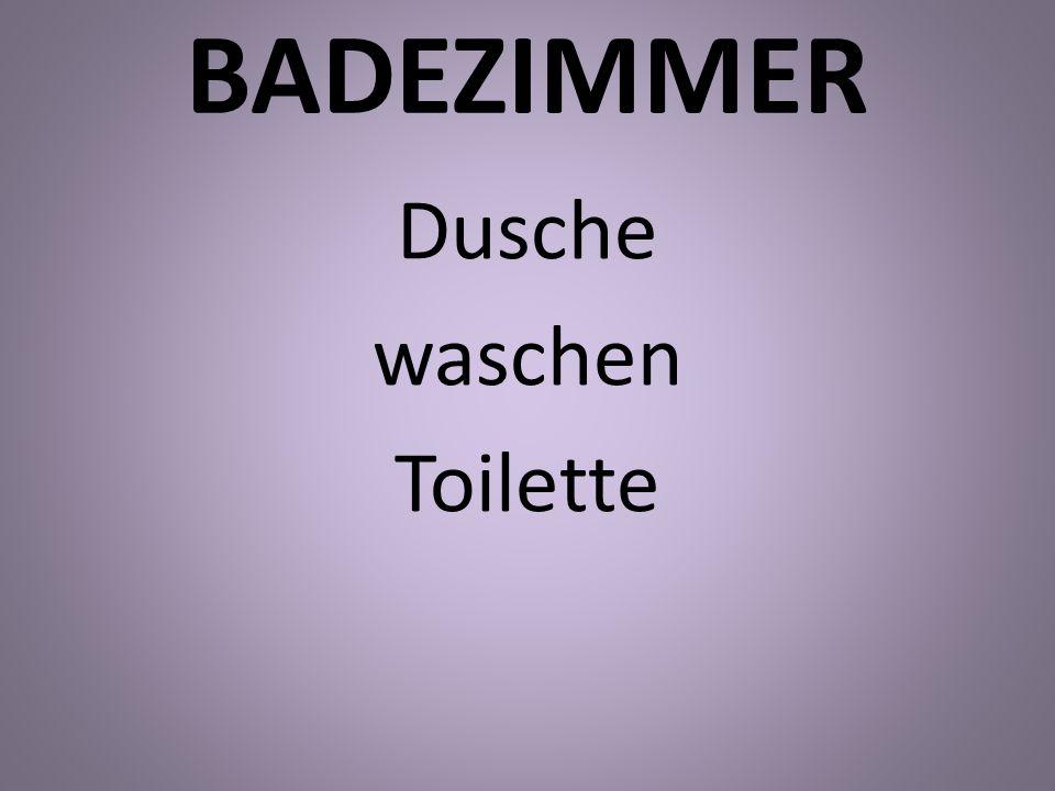 BADEZIMMER Dusche waschen Toilette