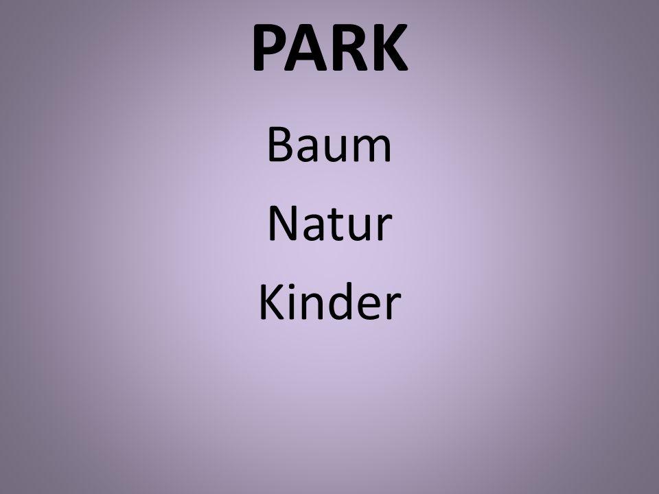 PARK Baum Natur Kinder