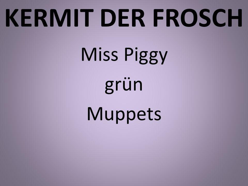 KERMIT DER FROSCH Miss Piggy grün Muppets