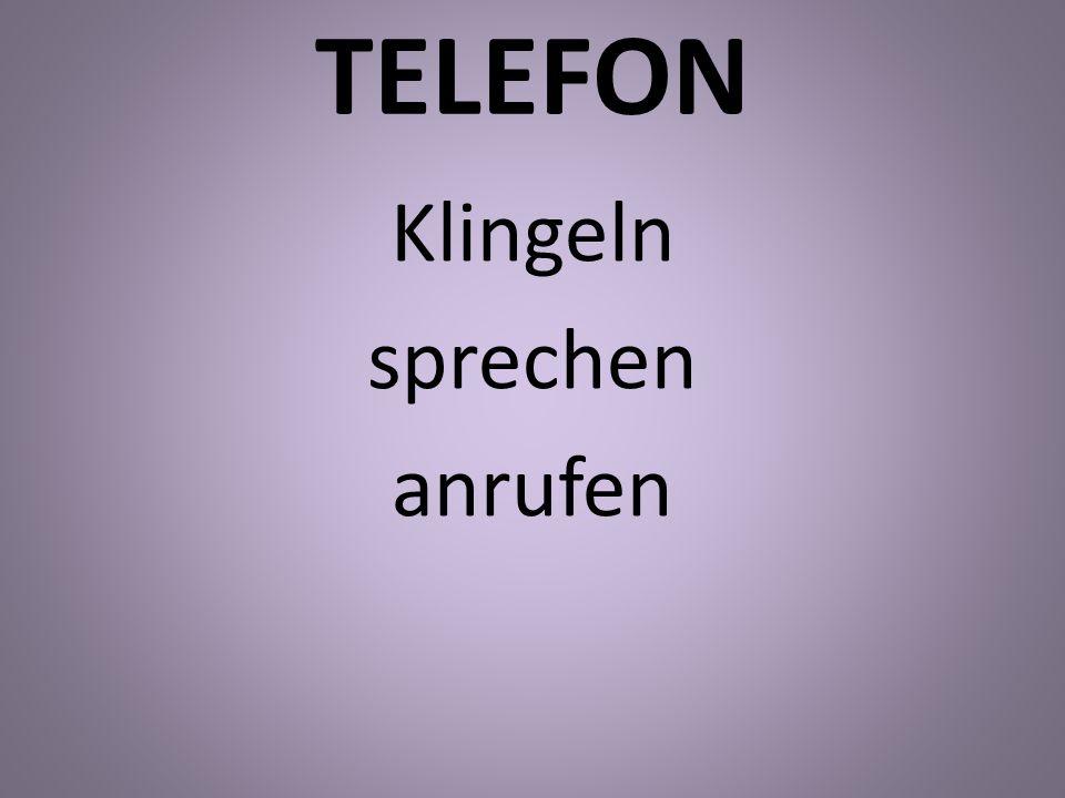 TELEFON Klingeln sprechen anrufen